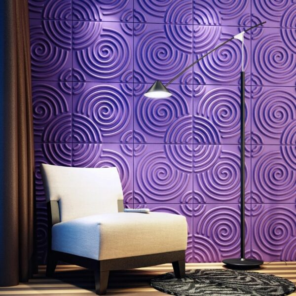 panel decorativo 3d ripple