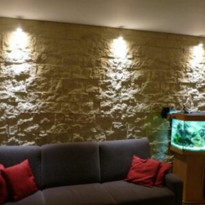 panel pared piedra castillo