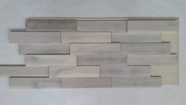Panel Decorativo Madera Natural 3D Modern White