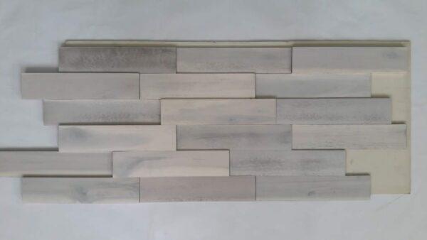 Panel Decorativo Madera Natural 3D Modern White
