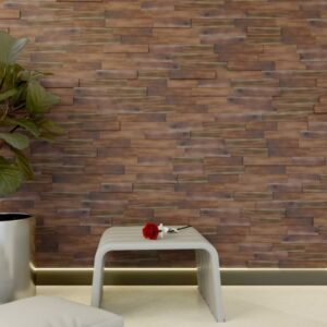 panel madera 3d natural brown colour