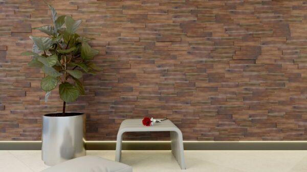 panel madera 3d natural brown colour