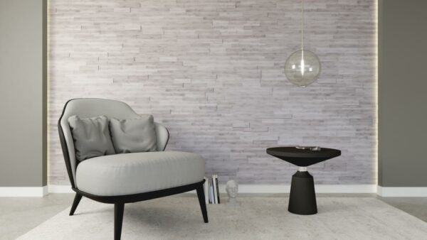panel madera 3D natural modern white